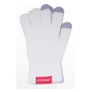 Fitcase toucscreen gloves wool size l white
